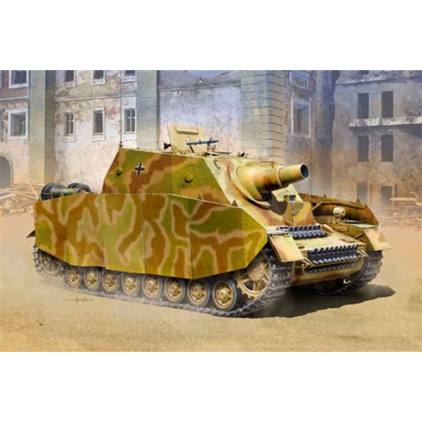 German Sturmpanzer IV Brummbar Mid WWII German Army Assault Tank