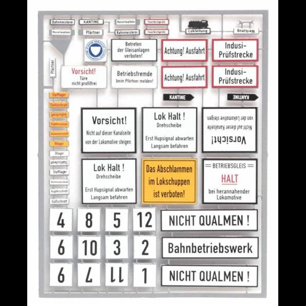 German Railway Yard Signs Era IIIIV 1:87 Etched Metal Kit