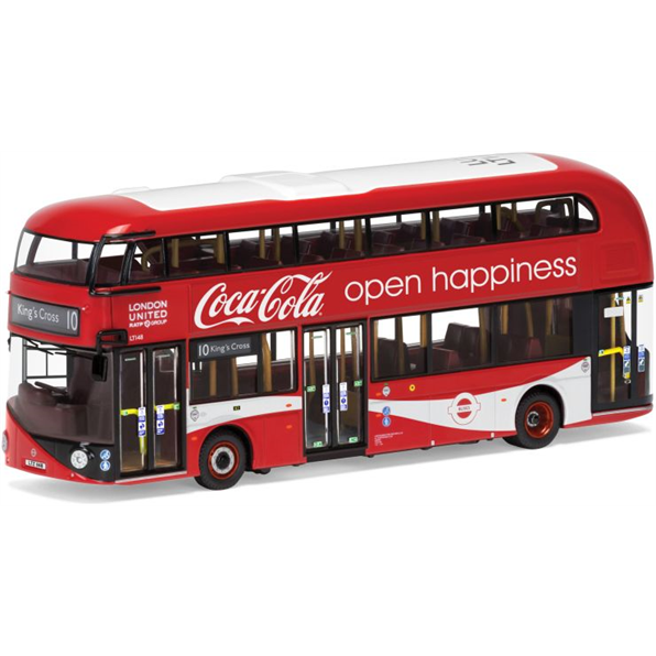 New Routemaster London United LTZ 1148 Route 10 Kings Cross 'Coca Cola'