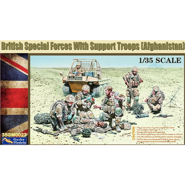 British Special Forces with Support Troops (Afghanistan)