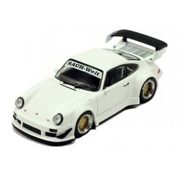 Porsche RWB 930, white + gold wheel rims