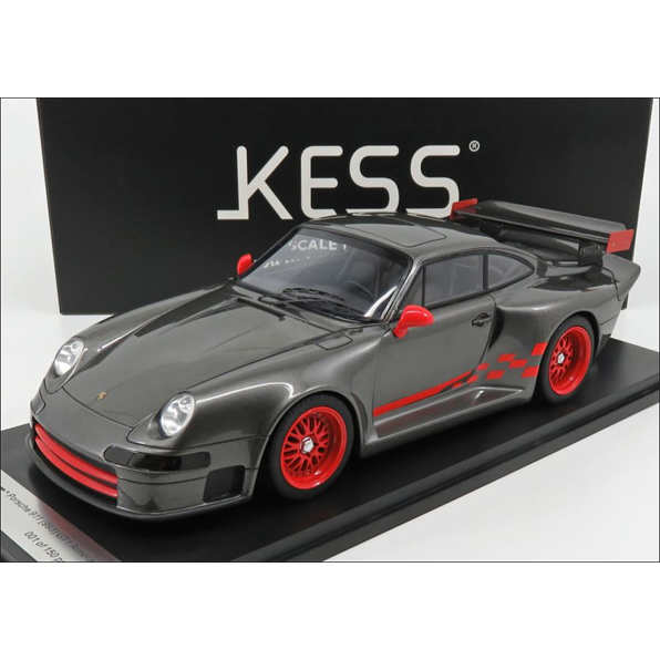 Porsche 911 993 GT1 Almeras Grey/Red Stripe
