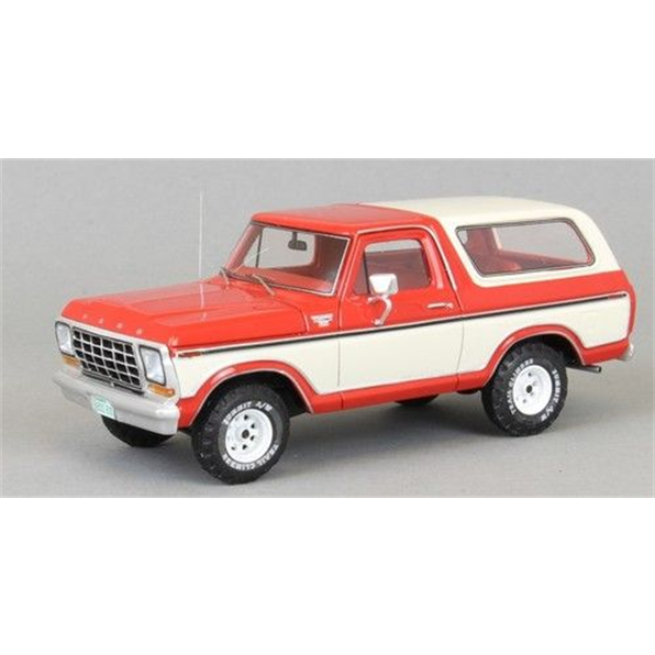 Ford Bronco 1979 - Red/White - John Ayrey Die Casts