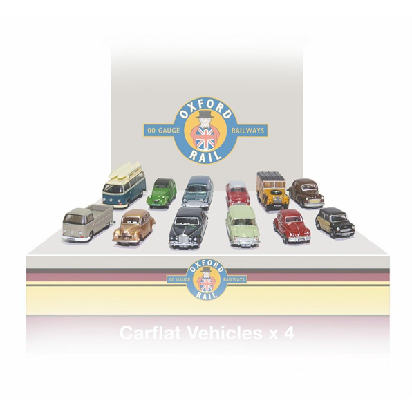 Carflat Pack 1960s Cars - Set of 4