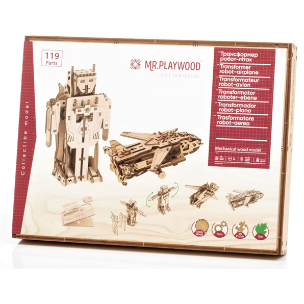 Transformer Robot Airplane (119 Pieces) (70x150x200mm)
