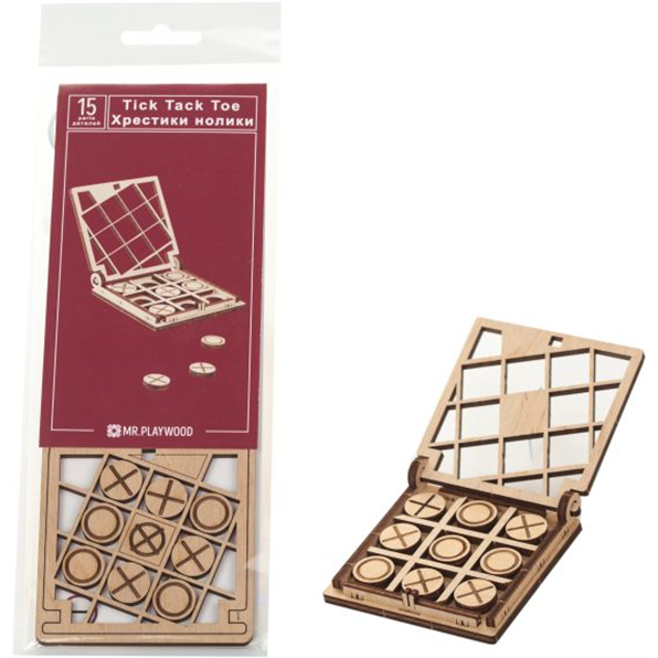 Tic-Tac-Toe #1 (Game) (15 Pieces) (73x70x15mm)