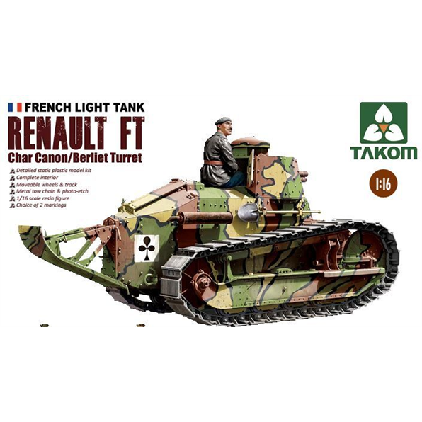 Renault FT Char Canon/Berliet Turret and Res